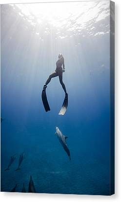 Apnea Canvas Print - Play by One ocean One breath