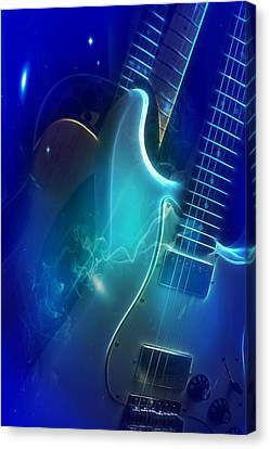 Play Them Blues Canvas Print
