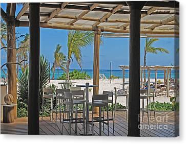 Playa Blanca Restaurant Bar Area Punta Cana Dominican Republic Canvas Print by Heather Kirk