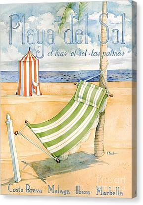 Playa Del Sol Canvas Print by Paul Brent