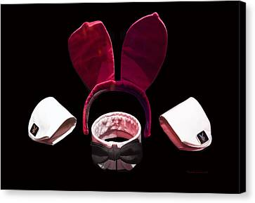 Playboy Bunny Canvas Print - Playboy Bunny Costume Accessories by Thomas Woolworth