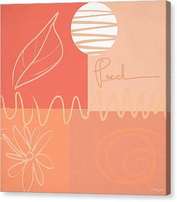 Playful Peach Canvas Print by Lourry Legarde