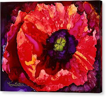 Playful Poppy Canvas Print