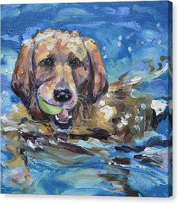 Playful Retriever Canvas Print