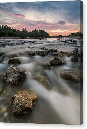 Playful River Canvas Print by Davorin Mance