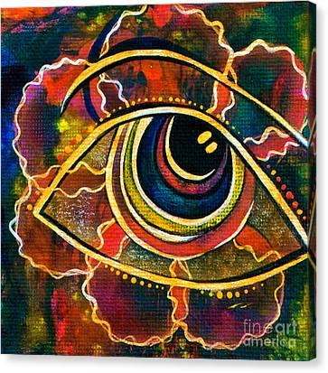 Canvas Print featuring the painting Playful Spirit Eye by Deborha Kerr