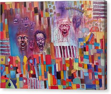 Canvas Print featuring the painting Playground Of The Undead by Jason Williamson