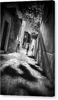 Playground Shadows Canvas Print by Taylan Apukovska