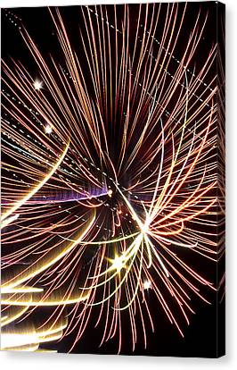 Playin With Fireworks Canvas Print by Michael Nowotny