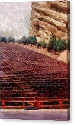 Playing At Red Rocks Canvas Print by Michelle Calkins