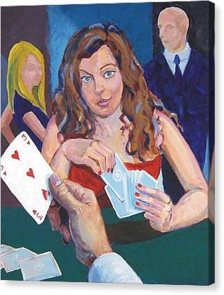 Playing Cards Canvas Print by Mike Jory