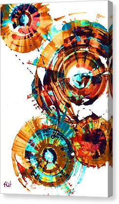 Playing In The Wind 1000.042312 - Popart-3 Canvas Print by Kris Haas