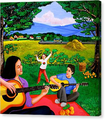 Pinoy Canvas Print - Playing Melodies Under The Shade Of Trees by Cyril Maza