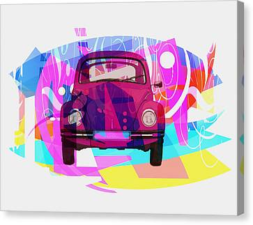 Playing Shapes Cars 02 Canvas Print by Joost Hogervorst
