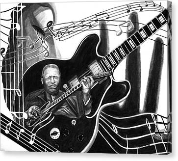Playing With Lucille - Bb King Canvas Print by Peter Piatt