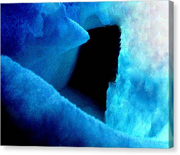 Playing With The Snow And Ice Kappl Mountain Austria  Canvas Print by Colette V Hera  Guggenheim
