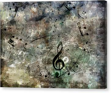 Playing Your Song Canvas Print by Angelina Vick