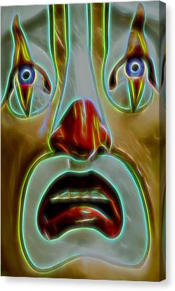 Canvas Print - Playland Clown by Bill Gallagher