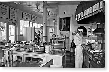 Playland Restaurant Interior Canvas Print by Underwood Archives