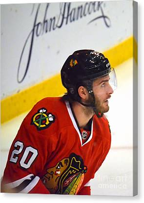 Canvas Print featuring the photograph Playoff Saad by Melissa Goodrich