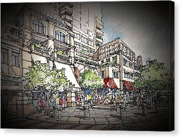 Plaza 2 Canvas Print