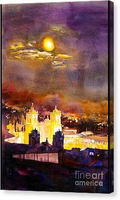Plaza De Armas- Cusco Canvas Print by Ryan Fox