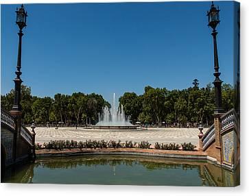 Plaza De Espana - Seville Canvas Print by Andrea Mazzocchetti