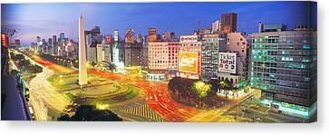 Plaza De La Republica, Buenos Aires Canvas Print by Panoramic Images