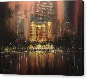 Plaza Hotel New York City Canvas Print by Tom Shropshire