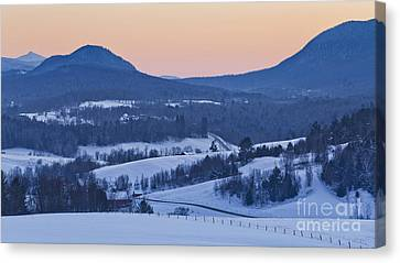 Pleasant Valley Winter Twilight Canvas Print