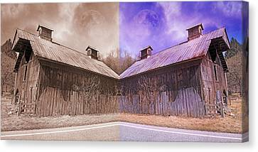 Pleasant View Country Barns Canvas Print by Betsy Knapp