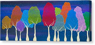 Please Don't Lick The Sherbet Trees Canvas Print