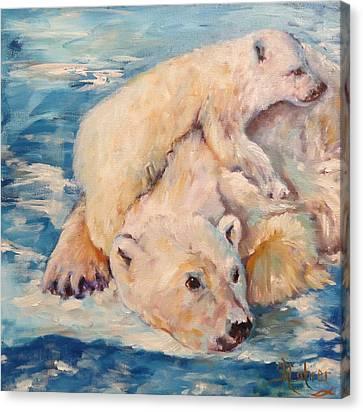 You Need Another Nap, Polar Bears Canvas Print