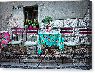 Please Have A Seat Canvas Print by Delphimages Photo Creations