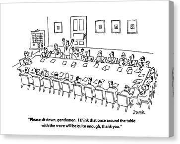 Please Sit Canvas Print by Jack Ziegler