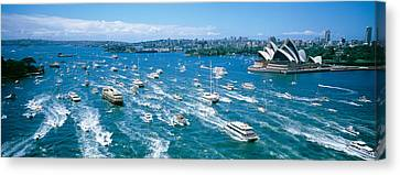 Pleasure Canvas Print - Pleasure Boats, Sydney Harbor, Australia by Panoramic Images