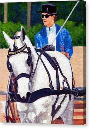 Pleasure Driving Canvas Print - Pleasure Driving Quarter Horse by Olde Time  Mercantile