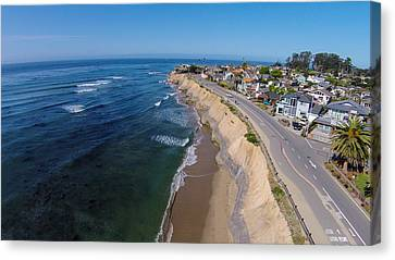 Pleasure Point Canvas Print by David Levy