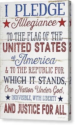 Pledge Allegiance Canvas Print by Jennifer Pugh