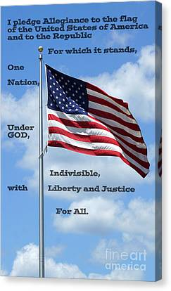 Pledge Of Allegiance Canvas Print by Paul  Wilford