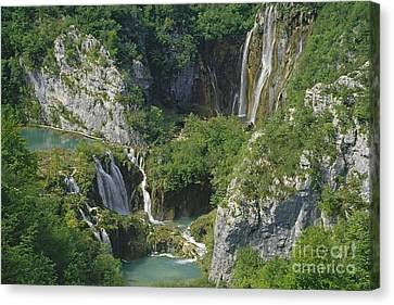Canvas Print featuring the photograph Plitvice Lakes In Croatia by Rudi Prott