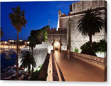 Ploce Gate And Fort Revelin, Dubrovnik Canvas Print