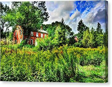 Plott Road Farmhouse Canvas Print