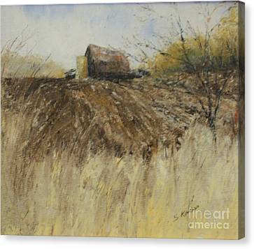 Ploughed Field Canvas Print
