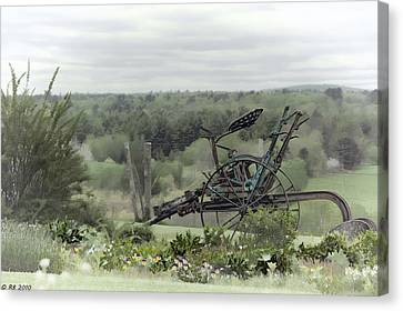 Plowing Through The Past Canvas Print by Richard Bean