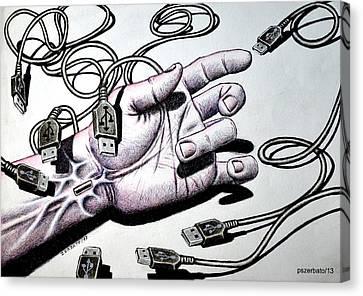 Plug And Play Pnp Canvas Print by Paulo Zerbato
