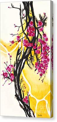 Plum Blossoms Canvas Print by Antony Galbraith