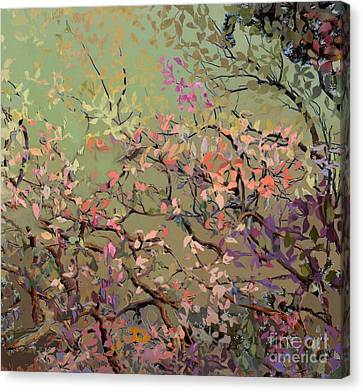Canvas Print featuring the digital art Plum Blossoms by Ursula Freer