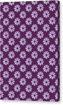 Plum Daisies Canvas Print by Jenny Armitage