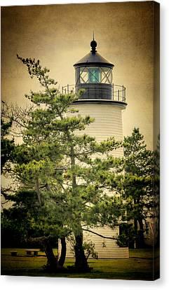 Coastguard Canvas Print - Plum Island Light by Joan Carroll